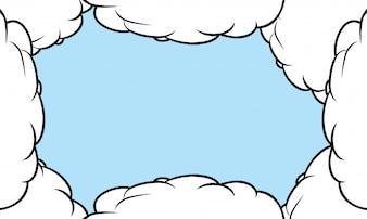 Nuvens de desenho vetorial.