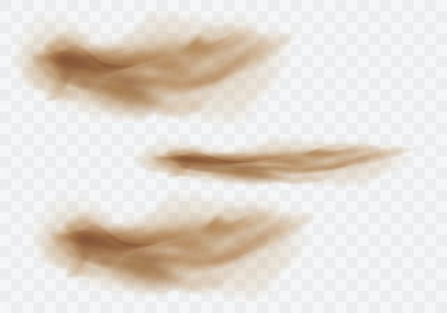 Nuvens empoeiradas marrons