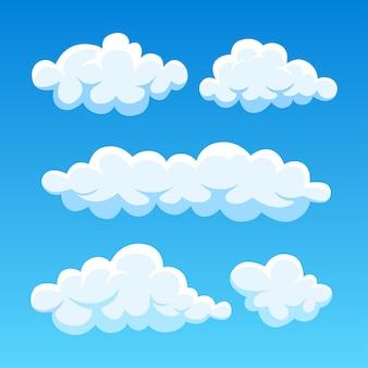 Nuvens no céu azul. cloudscape em segundo plano. céu.