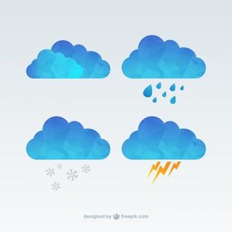 Nuvens poligonais