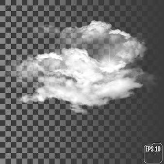 Nuvens realistas em um fundo transparente