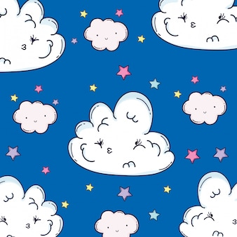 Nuvens sorrindo fundo