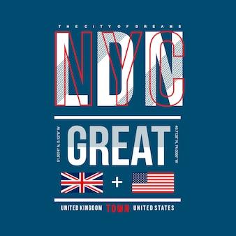Nyc / londres maior design da cidade para a impressão de t-shirt
