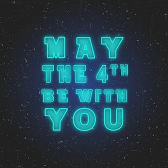 O 4 de maio esteja com você. ilustração vetorial