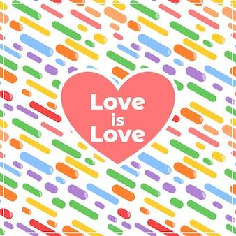 O amor é amor fundo decorativo