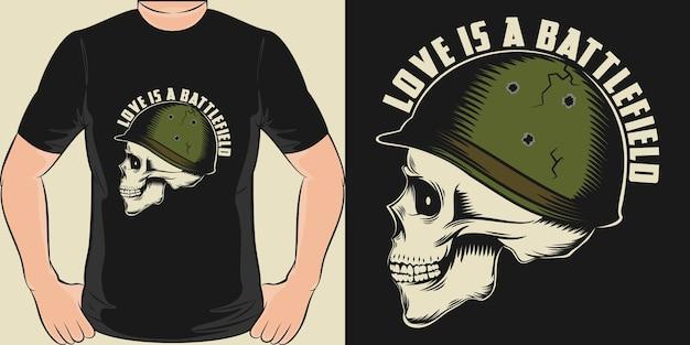 O amor é um campo de batalha. design exclusivo e moderno de camisetas
