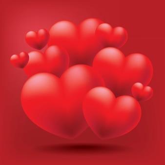 O amor está na ilustração do ar