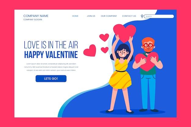 O amor está na página de destino do ar