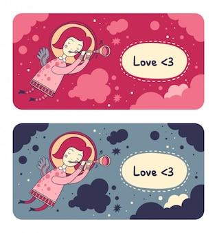 O amor está no ar banners