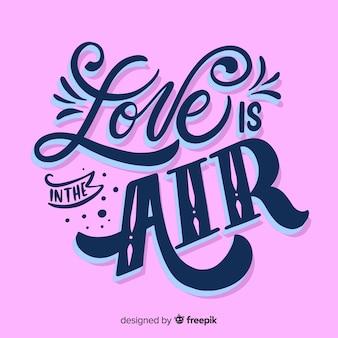 O amor está no ar lettering