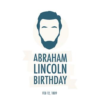 O aniversário do presidente abraham lincoln
