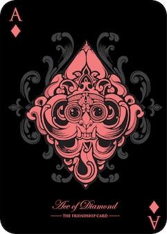 O ás do cartão do clube é inspirado em wayang