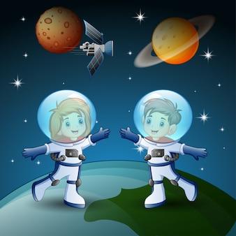 O astronauta fica no espaço
