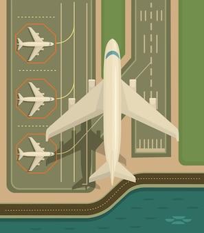 O avião está decolando.