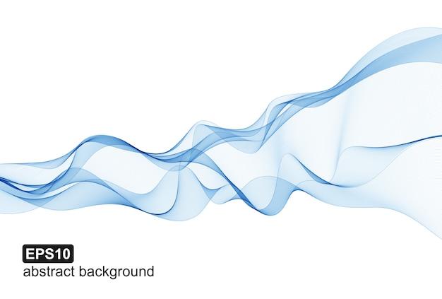 O azul abstrato acena o fundo branco.