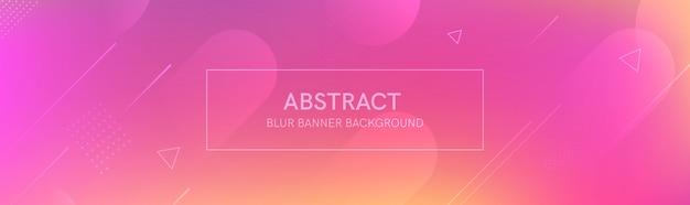O banner abstrato com as formas de gradiente e o desfoque de fundo com cores claras. a composição dinâmica da forma.