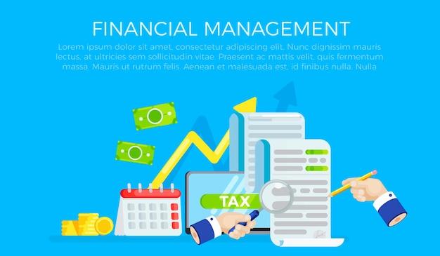 O banner do formulário de imposto. investigação de contas. data do pagamento da dívida.