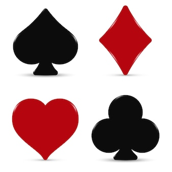 O baralho de cartas de ternos