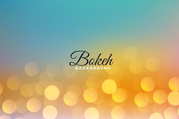 O bokeh agradável bonito ilumina o fundo colorido