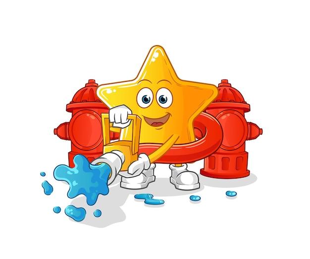 O bombeiro estrela. desenho animado