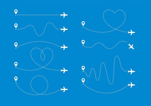 O caminho do plano define o avião a voar ao longo de certas linhas de curva a partir do vetor de ponto do mapa específico