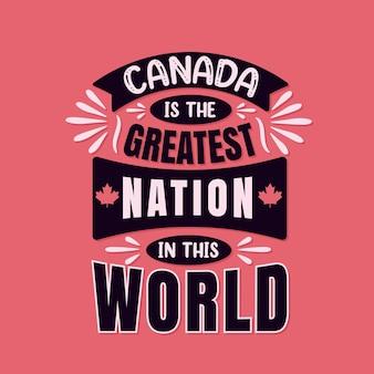 O canadá é a maior nação do mundo, cita a tipografia do dia do canadá