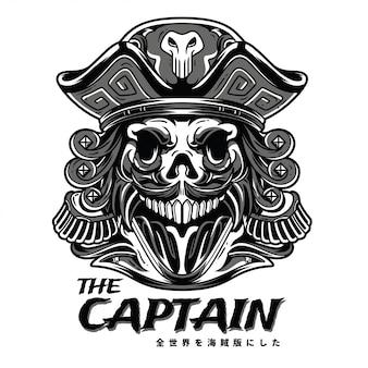 O capitão preto e branco