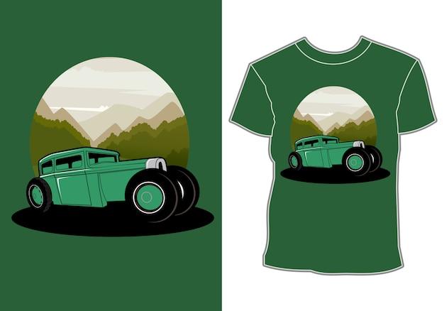 O carro, design de camiseta