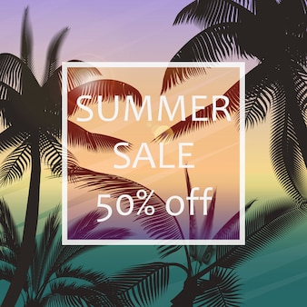 O cartaz de venda de verão
