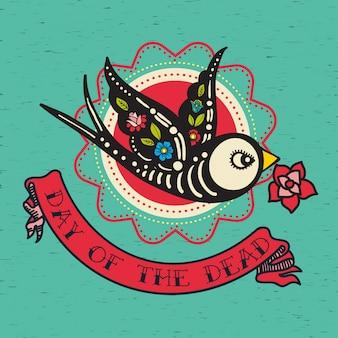 O cartaz do dia dos mortos,