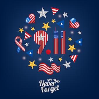 O cartaz nunca vamos esquecer 911