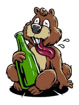 O castor bêbado
