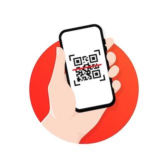 O celular verifica o código qr