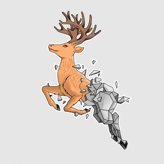 O cervo chapado