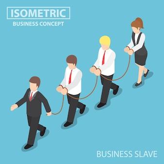 O chefe domina seu funcionário como um escravo