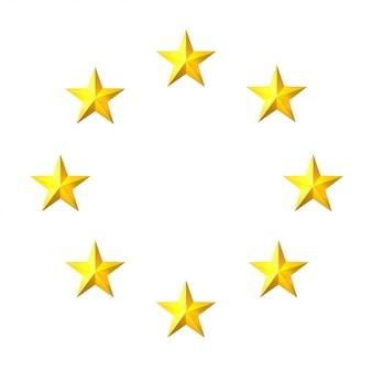 O círculo de estrelas de ouro. elemento para o seu design. ilustração vetorial