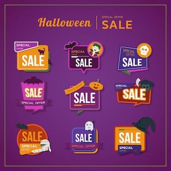 O colorido tema de halloween
