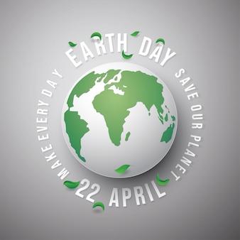 O conceito da terra verde salvar o mundo.