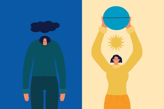 O conceito de ajudar uma pessoa com antidepressivos