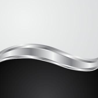 O conceito do projeto abstrato do fundo da onda de prata.