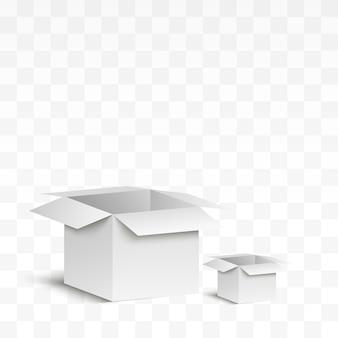 O confete sai voando da caixa. surpresa . ilustração