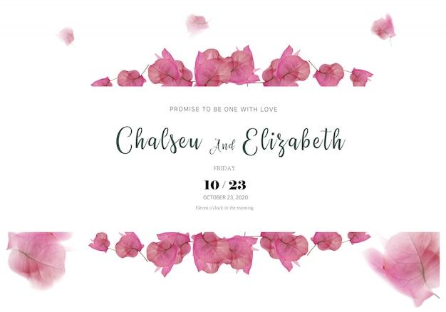 O convite para o casamento