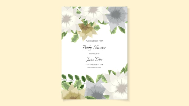 O convite rústico do casamento floral convida obrigado, cartão moderno do rsvp.