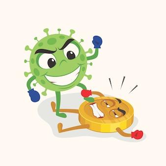 O coronavírus atingiu a economia.