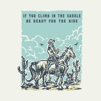 O cowboy na ilustração da sobremesa do oeste