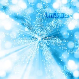 O cumprimento do natal brilhante na cor azul