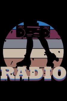 O desenho da mão do rádio