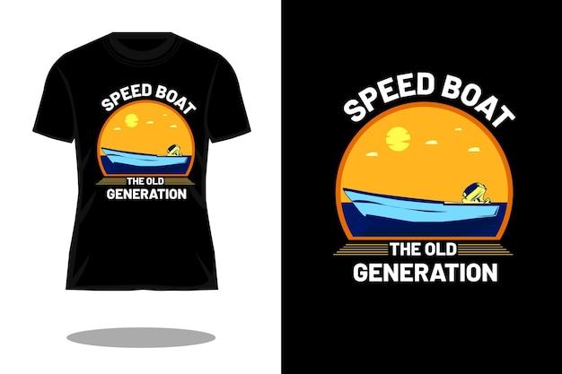 O design de camisetas retrô da velha geração