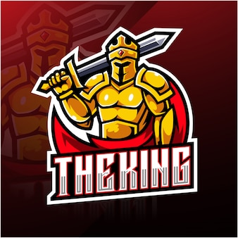 O design do logotipo da mascote esport king