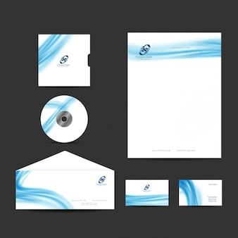 O design elegante dos artigos de papelaria empresarial moderno